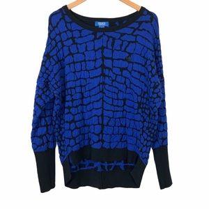 Adidas Jacquard Texture Knit Sweater Sz US 8 UK 10